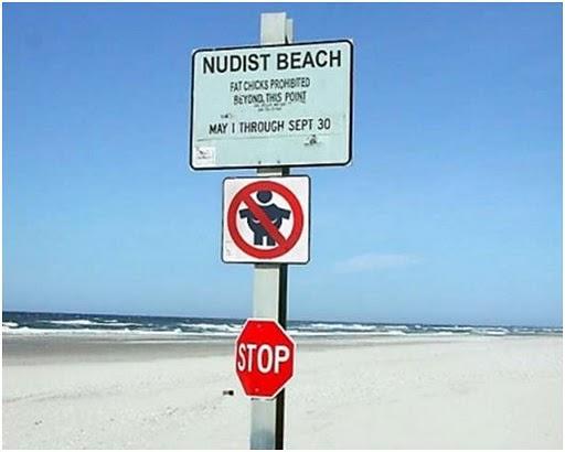 Placa de praia