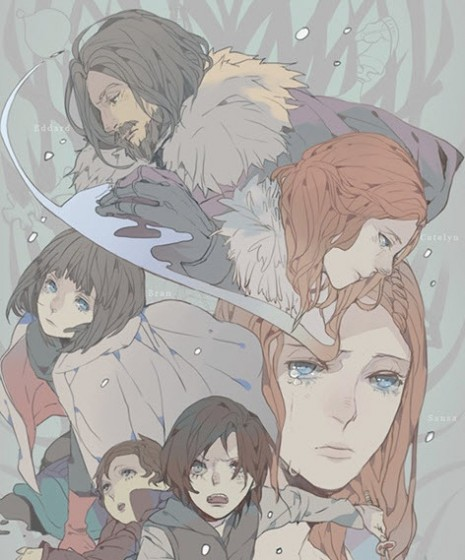 Como seria game of thrones em versão anime