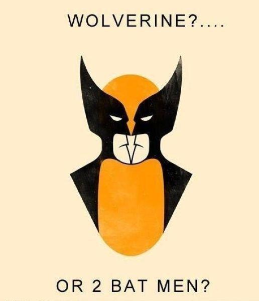 ilusao de otica com foto do Wolverine