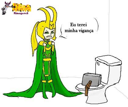 Loki sendo trollado